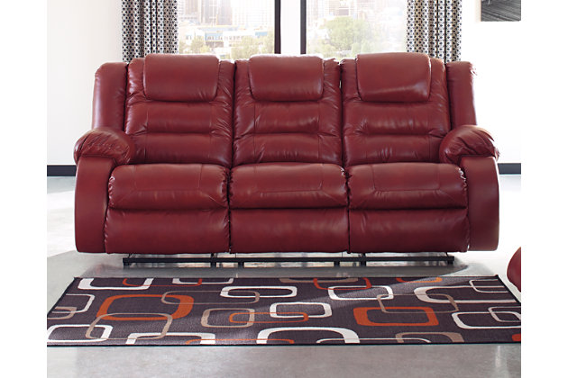 Vacherie Reclining Sofa, Salsa, large