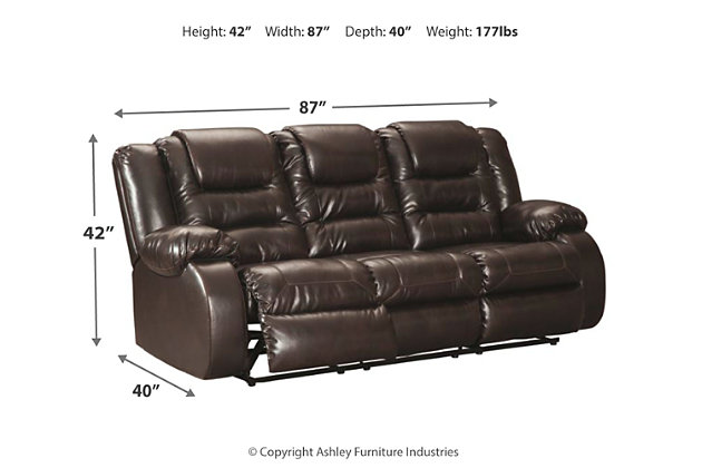 Wondrous Vacherie Reclining Sofa Ashley Furniture Homestore Dailytribune Chair Design For Home Dailytribuneorg