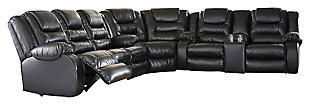 Vacherie 3-Piece Sectional, Black, large