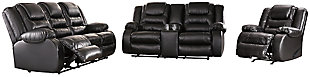 Vacherie Sofa, Loveseat and Recliner, Black, large