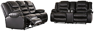 Vacherie Sofa and Loveseat, Black, large