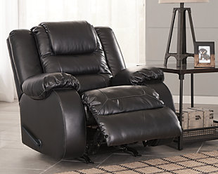 Vacherie Recliner, Black, rollover