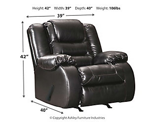 Vacherie Recliner, Black, large