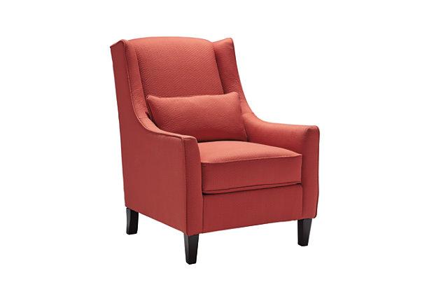 Sansimeon Chair by Ashley HomeStore, Orange, Polyester/rayon