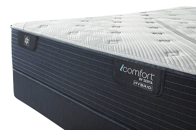 iComfort CF1000 Quilted II Hybrid Firm Full Mattress, White/Blue, large
