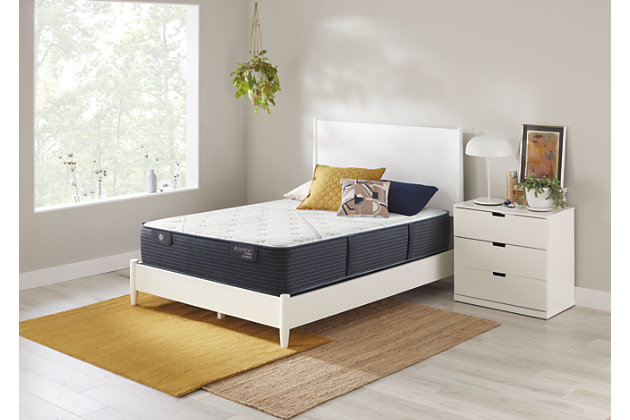 iComfort CF1000 Quilted II Hybrid Firm Queen Mattress, White/Blue, large