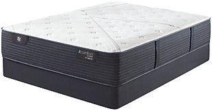 iComfort CF1000 Quilted II Hybrid Firm Queen Mattress, White/Blue, rollover