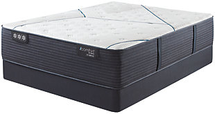iComfort CF4000 Quilted Hybrid Medium Queen Mattress, White/Blue, rollover