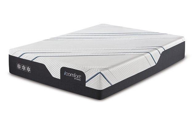 iComfort Foam CF3000 Medium Twin XL Mattress, White/Gray, large