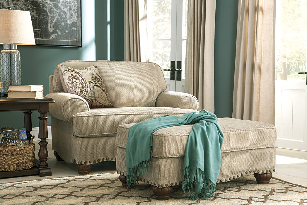 Alma bay ottoman ashley furniture homestore - Living room set with chair and a half ...