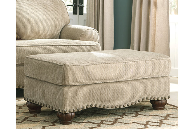 Alma Bay Ottoman by Ashley HomeStore, Tan, Polyester (100 %)