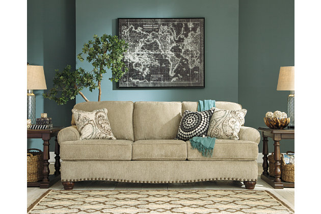 Alma Bay Sofa by Ashley HomeStore, Tan, Polyester (100 %)