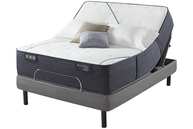 iComfort CF3000 Quilted Hybrid Medium Queen Mattress, White/Blue, large