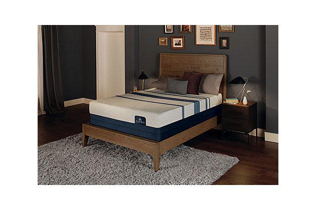 iComfort BLUE 300 King Mattress, Gray/Blue, large
