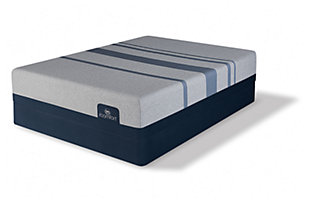 iComfort BLUE MAX 1000 Plush Full Mattress, Gray/Blue, large