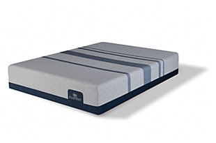 iComfort BLUE MAX 1000 Plush Queen Mattress, Gray/Blue, rollover