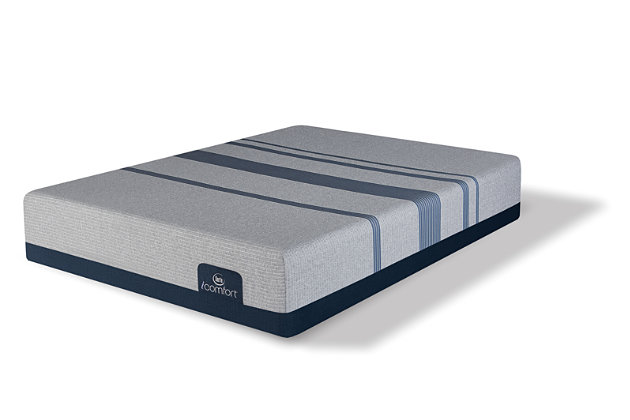 iComfort BLUE MAX 1000 Plush King Mattress, Gray, large