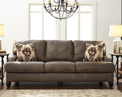 Kannerdy Sofa by Ashley HomeStore, Quarry Leather
