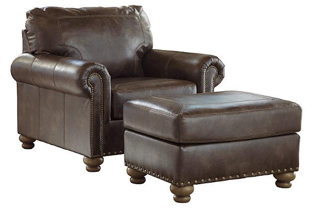 Nicorvo Chair And Ottoman Ashley, Ashley Furniture Leather Chair