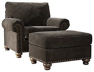 Stracelen Chair and Ottoman, , large