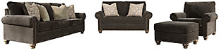 Stracelen Sofa, Loveseat, Chair and Ottoman, , large