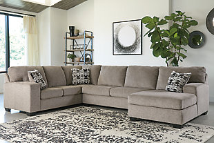 Ballinasloe 3-Piece Sectional with Chaise, Platinum, large