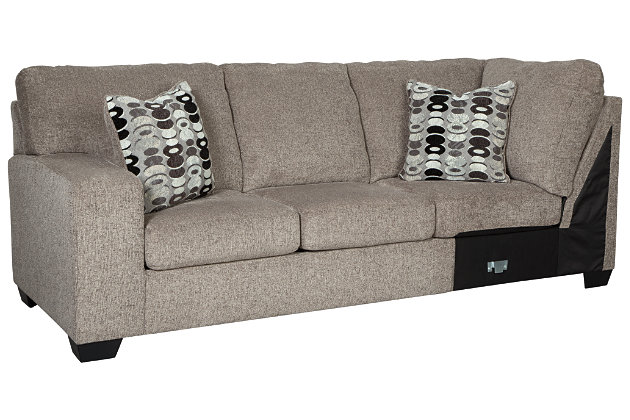 Ballinasloe 3-Piece Sectional with Ottoman, Platinum, large