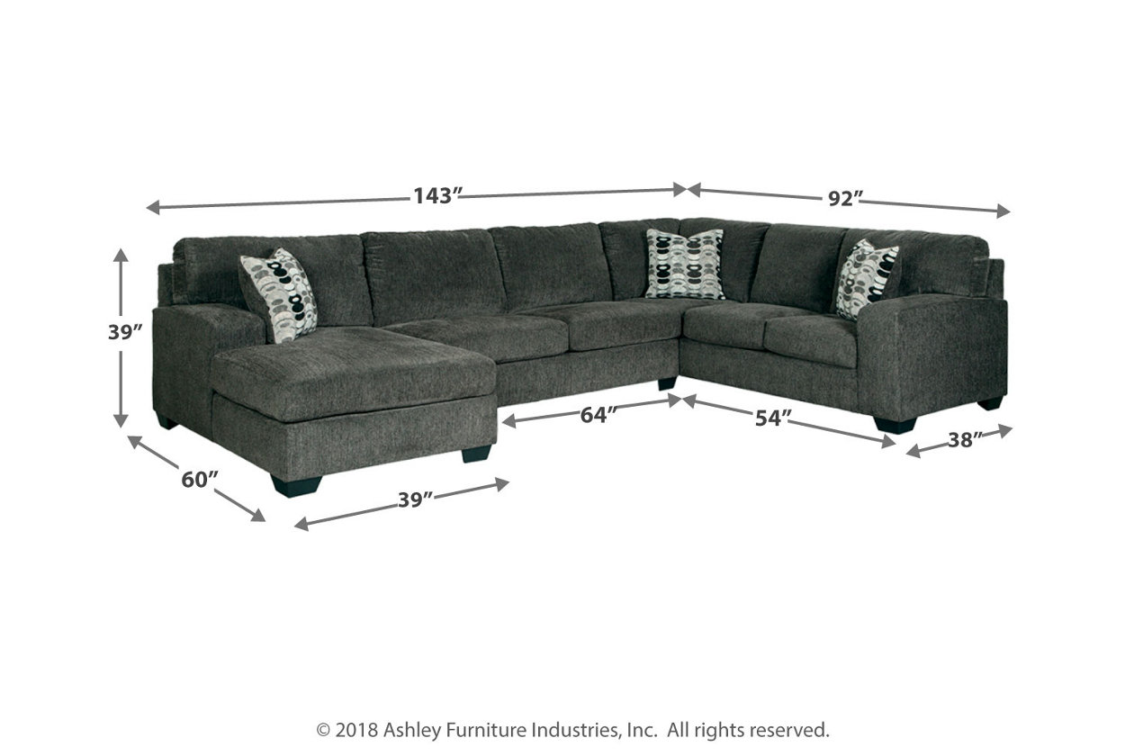 Cool Ballinasloe 3 Piece Sectional With Chaise Ashley Furniture Dailytribune Chair Design For Home Dailytribuneorg