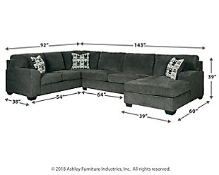 Ballinasloe 3-Piece Sectional with Chaise, , large
