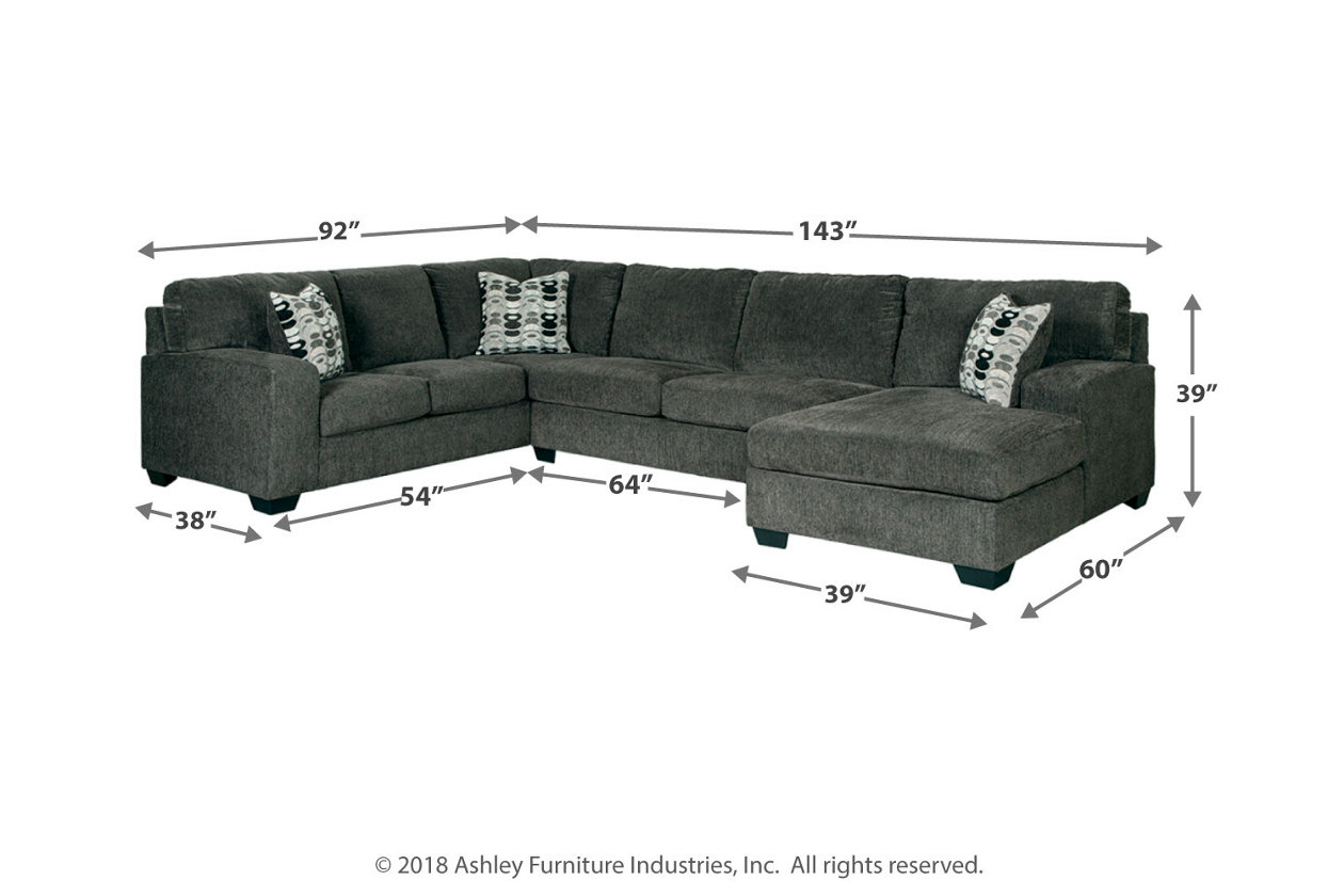 Pleasant Ballinasloe 3 Piece Sectional With Chaise Ashley Furniture Bralicious Painted Fabric Chair Ideas Braliciousco