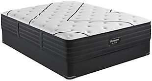 Beautyrest Black L-CLASS Extra Plush Twin XL Mattress, Black/White, rollover