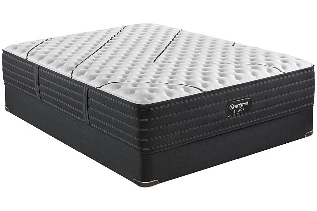 Beautyrest Black L-CLASS Extra Firm Twin XL Mattress, Black/White, large