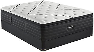 Beautyrest Black L-CLASS Medium Pillow Top Twin XL Mattress, Black/White, rollover