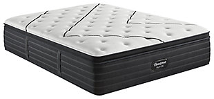 Beautyrest Black L-CLASS Medium Pillow Top Queen Mattress, Black/White, large