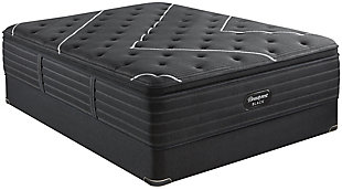 Beautyrest Black C-CLASS Pillow Top Queen Mattress, Black, rollover