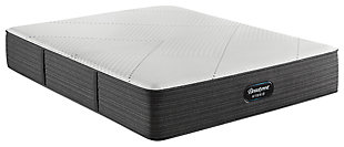 Beautyrest Hybrid BRX1000-IP Medium Twin Mattress, White/Navy, large