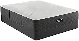 Beautyrest Hybrid BRX1000-IP Plush Twin Mattress, White/Navy, rollover