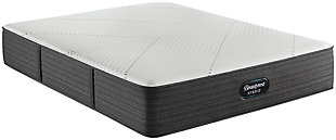 Beautyrest Hybrid BRX1000-IP Plush Twin Mattress, White/Navy, large