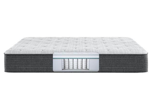 Beautyrest Silver Ferndale Plush Twin Mattress, White/Navy, large