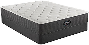 Beautyrest Silver Ferndale Plush Twin Mattress, White/Navy, rollover
