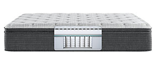 Beautyrest Silver Ferndale PT Plush Twin Mattress, White/Navy, large