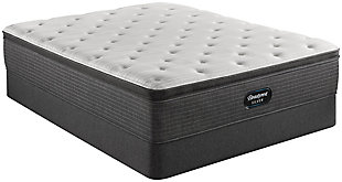 Beautyrest Silver Ferndale PT Plush Queen Mattress, White/Navy, rollover