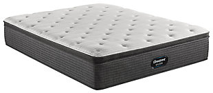 Beautyrest Silver Ferndale PT Plush Queen Mattress, White/Navy, large