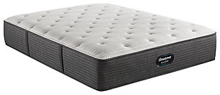Beautyrest Silver Level 2 Greystone Medium Twin Mattress, White/Navy, large