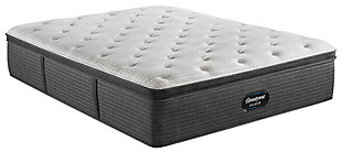 Beautyrest Silver Level 2 Greystone PT Plush Full Mattress, White/Navy, large
