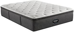 Beautyrest Silver Level 2 Greystone PT Plush California King Mattress, White/Navy, large