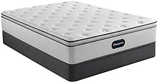Beautyrest Dresden ET Plush Queen Mattress, Gray/White, rollover