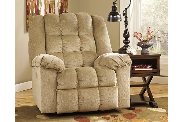 Ludden Power Recliner by Ashley HomeStore, Tan, Polyester...