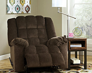 Ludden Recliner, Cocoa, large