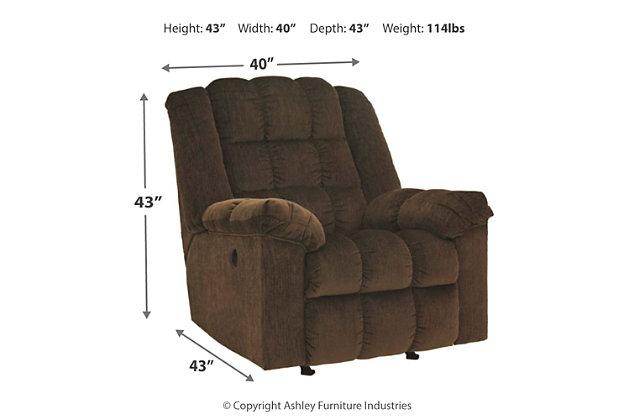 Ludden Power Recliner, Cocoa, large